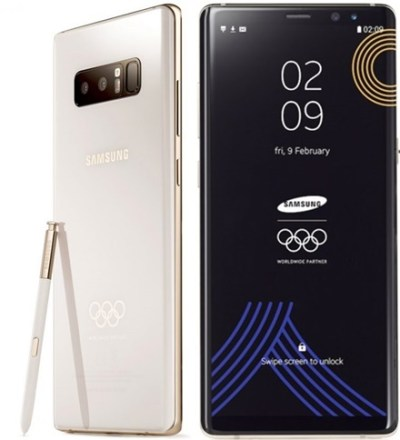 Samsung To Gift Athletes with 2018 Winter Olympics-Themed Galaxy Note 8