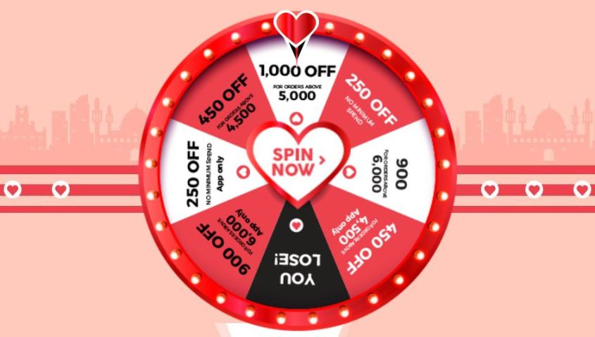 valentine wheel of lover offer on Jumia online store