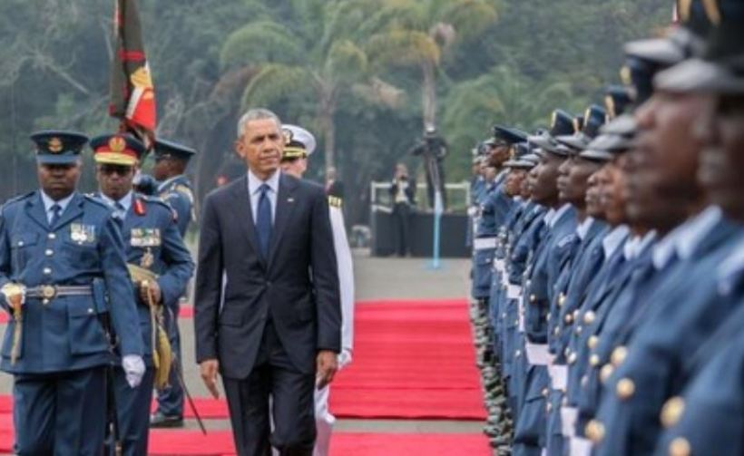 Obama visit to Kenya on July 2018 and his tour to Alego Kogelo to launch Sauti Kuu Foundation Launch