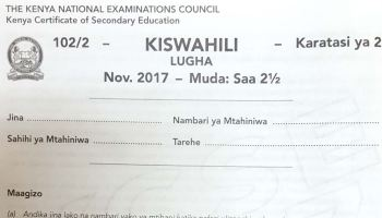 How to revise for KCSE Kiswahili examination and sample