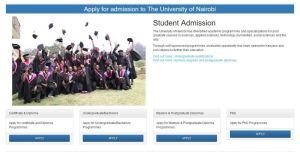 University of Nairobi 2019 Intakes for January April, May and September for admission letters