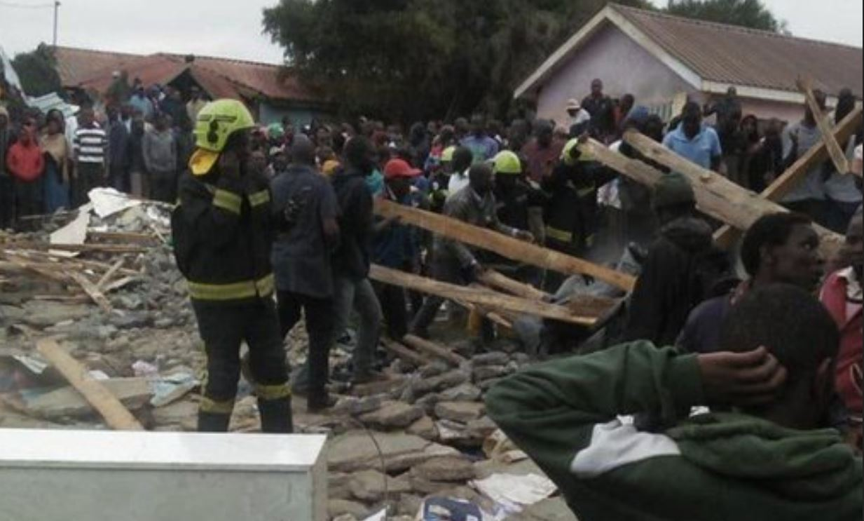 Photo of Ongoing rescue operation at Precious Talent School collapsed classrooms