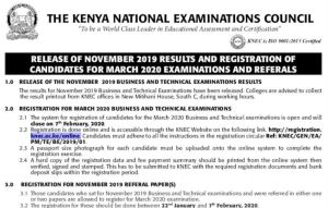 KNEC Business and Technical examination