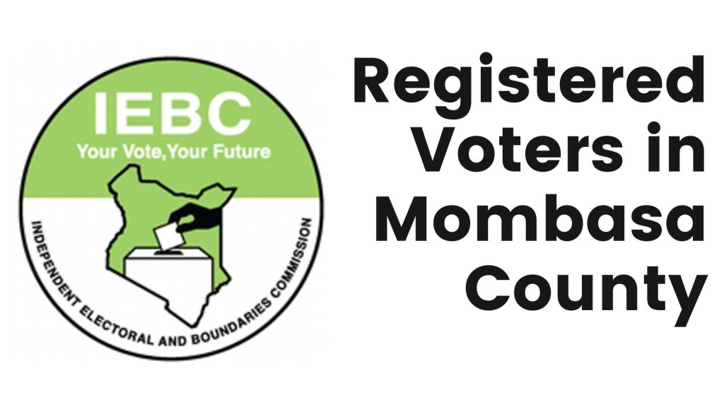 IEBC Number of registered voters in Mombasa County