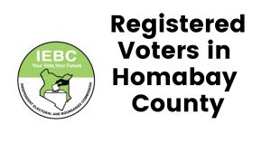 IEBC Homabay County Registered Voters
