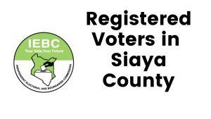 IEBC Siaya County Registered Voters