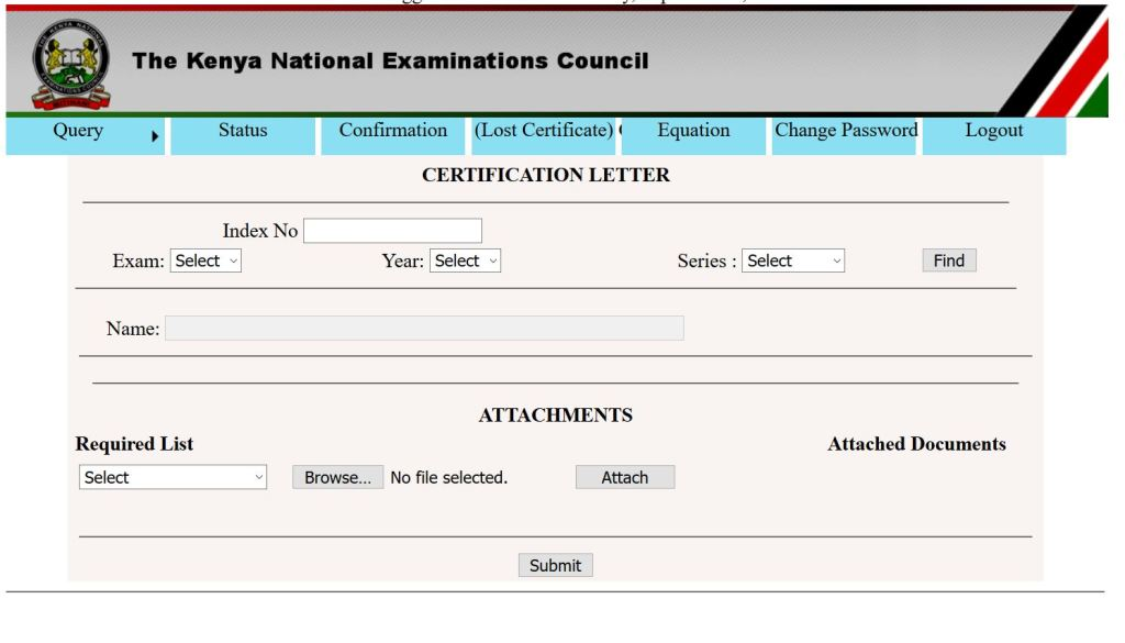 How to use KNEC QMIS portal for national exams queries