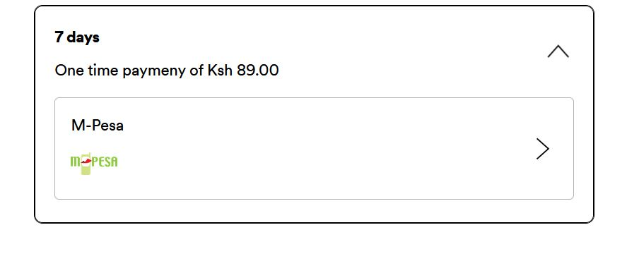 Spotify Payment with Mpesa