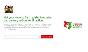 checking huduma number card collection status online portal