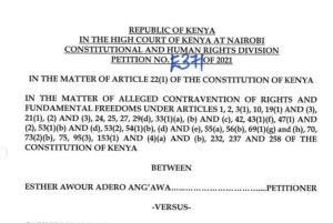 CBC court case in kenya, petitioner ruling prayer