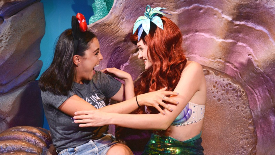 Ariel meeting excited guest