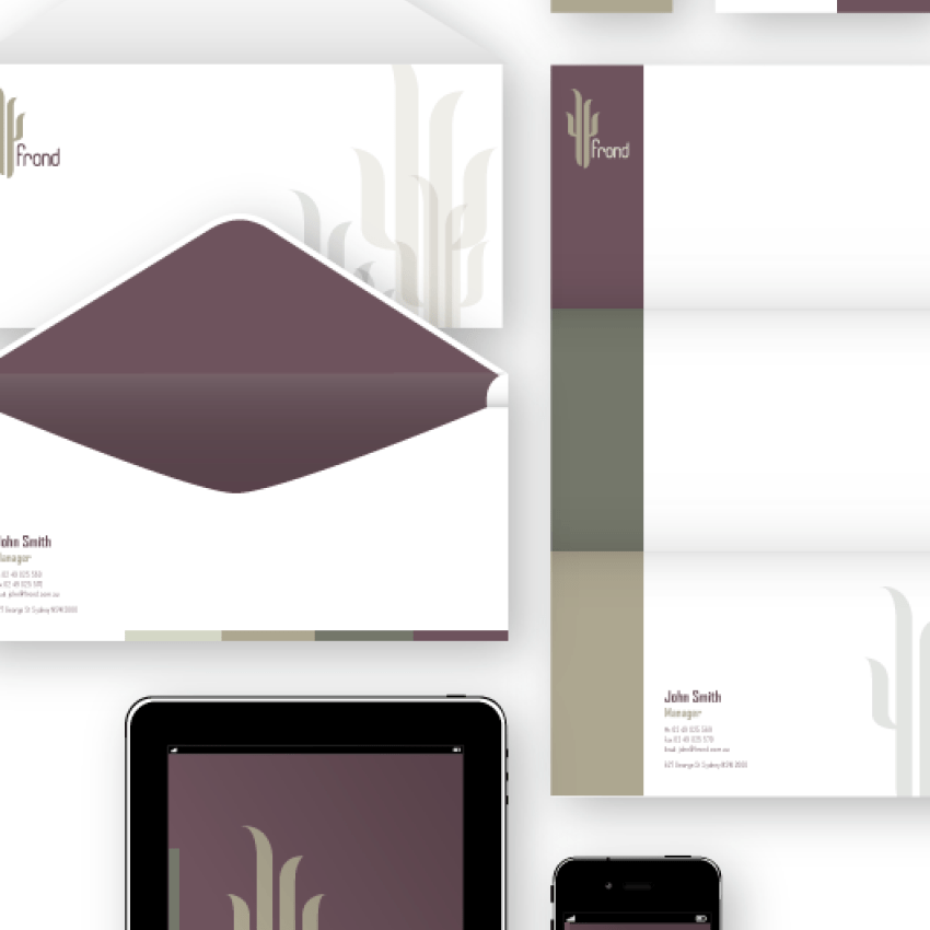 Frond Branding Project Redeveloped