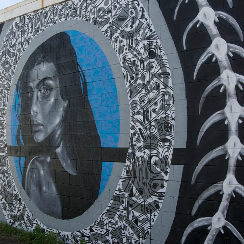 """Lady of the Rings"" Collaborative Mural – Keo Match x CHEHEHE x Ohnoes"