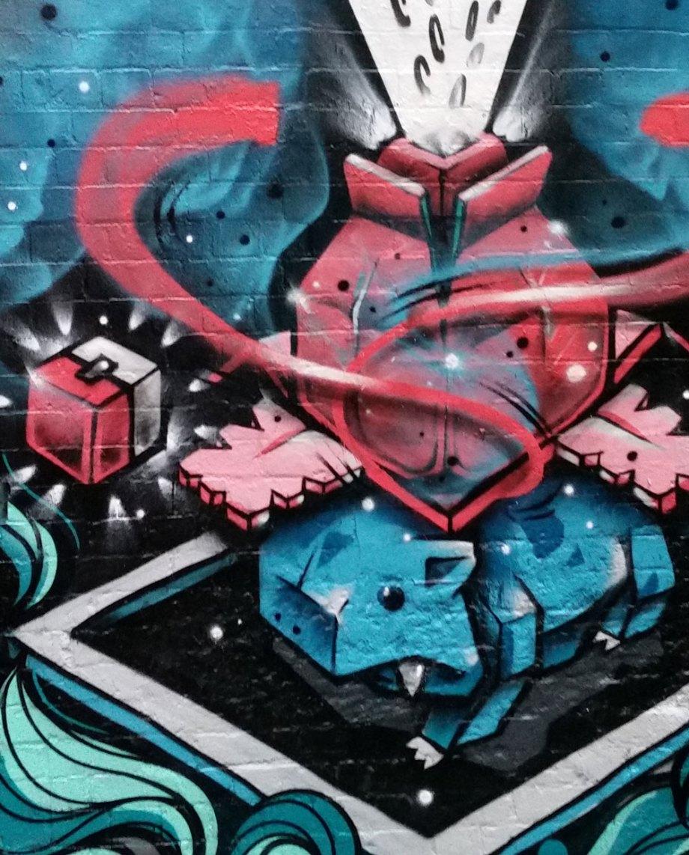 BlockamonGO:BOXASAUR –   Street Art Jam, Melbourne CBD – Keo Match x Russkid
