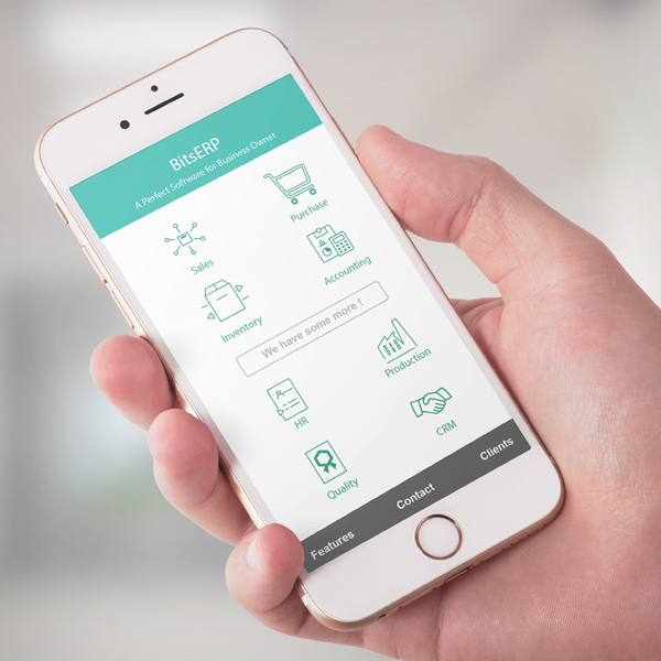 A Mobile Android App and IOS App User Interface and Interaction Design Project by Keon Designs for Bits ERP