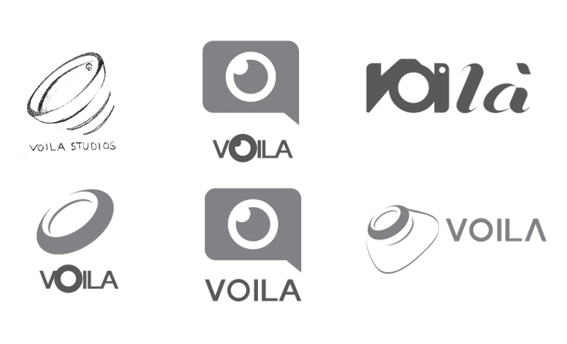 Logo Ideations for Voila Studioz Mumbai Maharashtra, a brand development client of Keon Designs