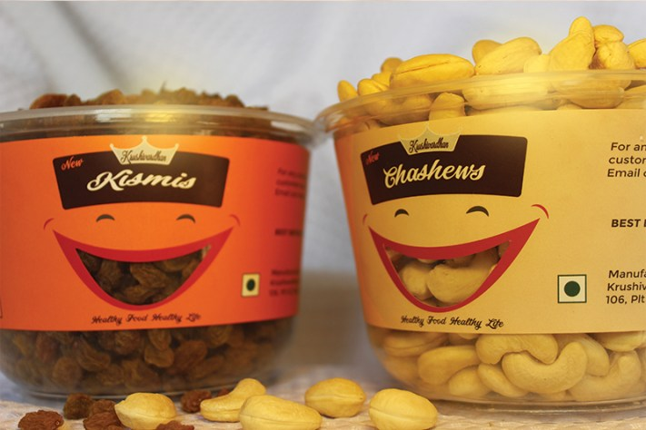 Chaahews & Kismis product packing design by keon designs