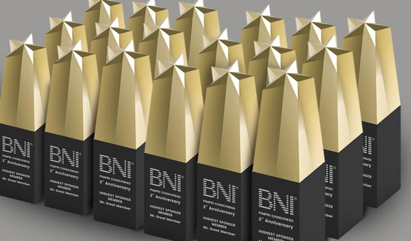 felicitation award designed by keon designs for BNI