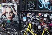 Yellow Bike and Graffiti - Amsterdam, Holland