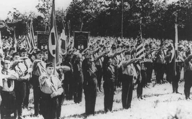 A Kenosha-i Volksbund tagjai (Wiscoinsin állam) 1937-ben