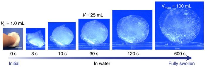 Vízben tíz perc alatt éri el végleges méretét a felfújódó tabletta