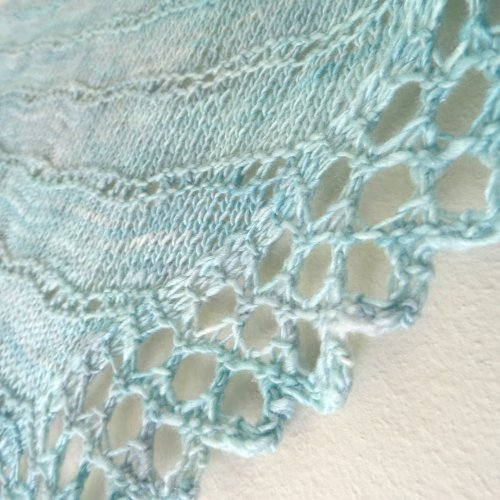 Surf shawl detail