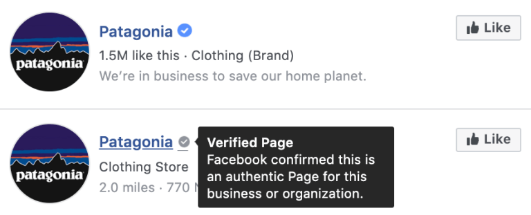 Facebook business verification guideline : a verified facebook page