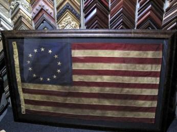 Framed Flag Archival Framing