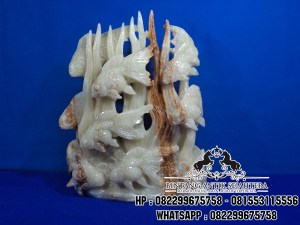 Patung Ikan Koi Batu Alam