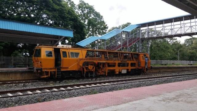 ballast train at Pudunagaram railway station