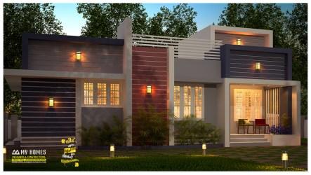 kerala low cost exterior designs plans sq budget ft homes india 1000 bhk sqft
