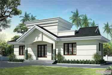 kerala low cost plan plans floor elevation single homes sq ft feet advertisement
