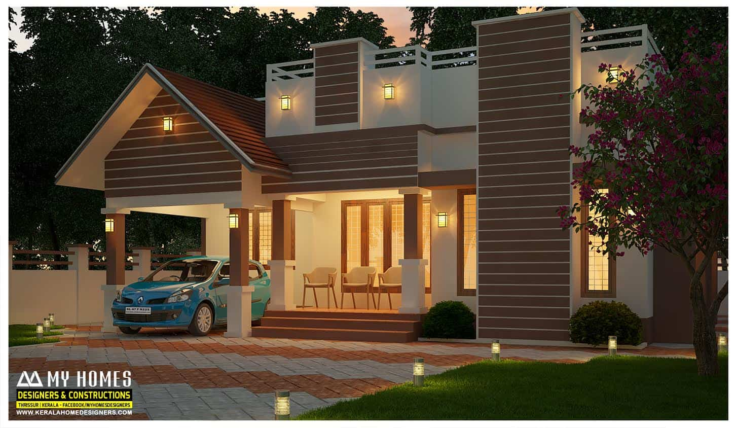 3 Bhk Home Plans And Elevation