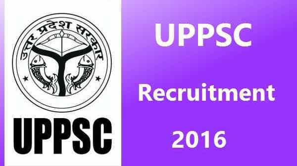 UPPSC Jobs 2016