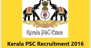 Kerala PSC HSS Teachers Recruitment 2016