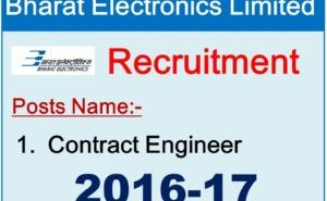 Bharat Electronics Limited recruitment for Contract Engineer posts