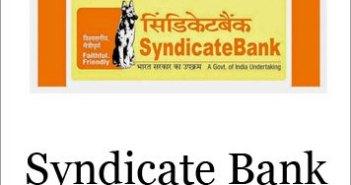 Syndicate bank Recruitment 2017
