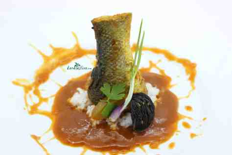 Kerala naadan meen curry with kudam puli/ kokum fish curry is a famous made with seabass/ kalanji. The fish is semi-stewed and goes well with bread and rice.