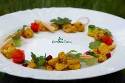 Cauliflower poriyal / Spiced cauliflower stir fry recipe