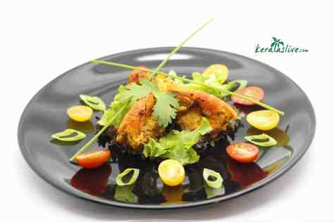 Konju varuthathu / Pan fried scampi kerala style is a tasty and aromatic seafood delicacy from Kerala, India.