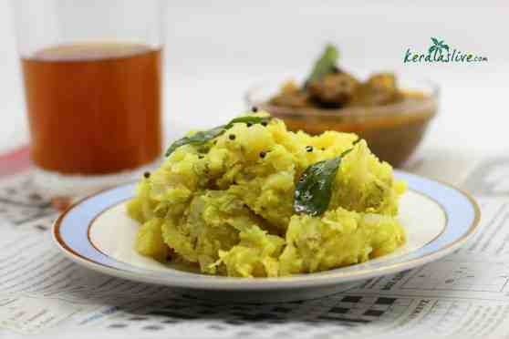 Kappa puzhukku /mashed tapioca - along with fish curry/ beef curry is one of the favourite dish in the toddy shops throughout Kerala.