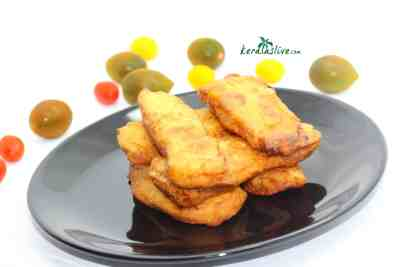 Pazham pori or Plantain fritter is one of the most famous evening snacks in Kerala.
