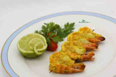 Spicy grilled prawns - Prawn fry is considered to be the signature dish of Kerala.