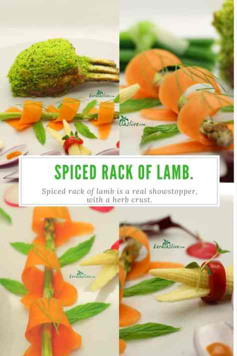 Indian spiced lamb rack -Generously Indian spiced rack of lamb is a real showstopper, with a herb crust. Easy to do and one of the best things I have ever tasted!