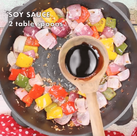 add two tablespoon soy sauce