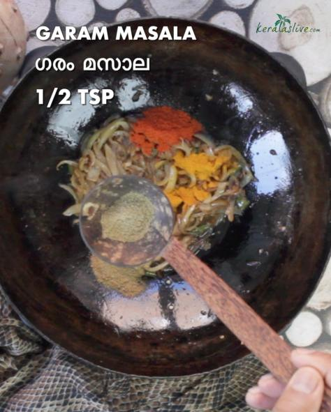 add half teaspoon of garam masala