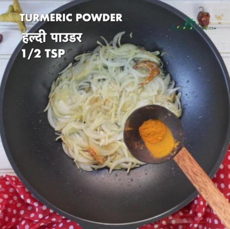 half a teaspoon of turmeric