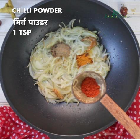 One teaspoon of chilli powder