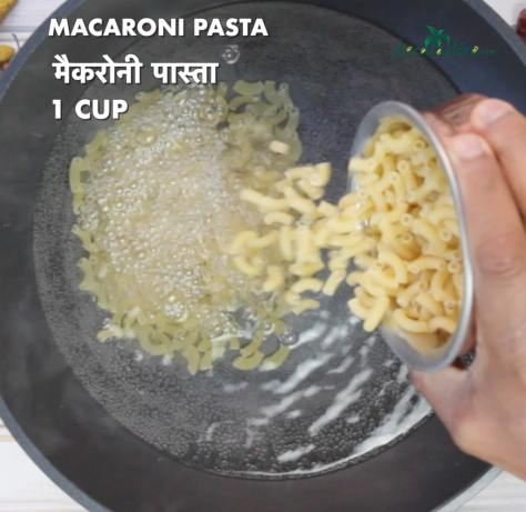 add one cup of macaroni and cook