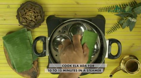 cook ela ada for 10 to 15 minutes in a steamer